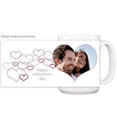 Personalized Lots of Hearts Magic Mug