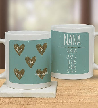 Personalized Nana's Hearts Mug