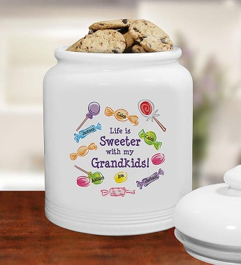Life Is Sweeter Personalized Cookie Jar
