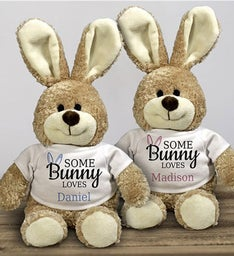 Personalized Somebunny Loves Bear