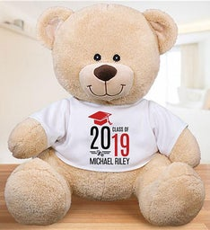 Personalized Graduate Hat  Diploma Sherman Bear