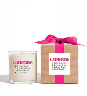 Personalized Best Mom! Candle