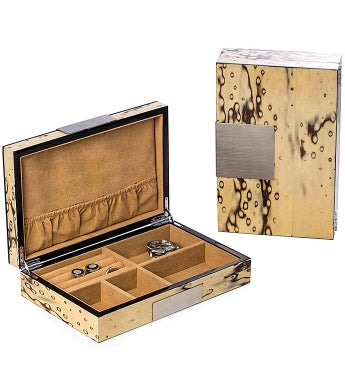 Personalized Exotic Ice Lacquered Wooden Valet