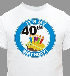 Its My Birthday Personalized 40th Birthday T-Shirt