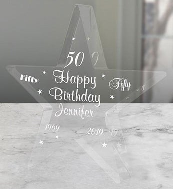 Personalized Happy Birthday Glass Keepsake