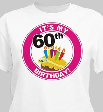 Personalized 60th Birthday T-Shirt
