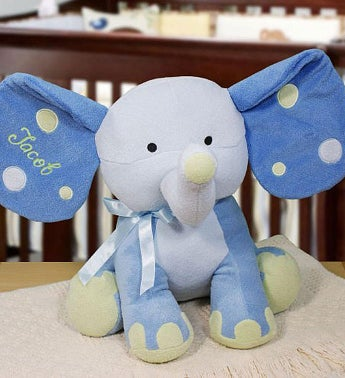 Embroidered Blue Elephant