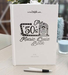 Personalized 1950s Music Quiz Book