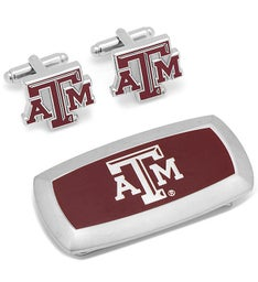 Texas AM Aggies Cufflinks and Money Clip