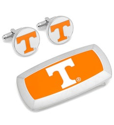 Tennessee Volunteer Cufflinks  Cushion Money Clip