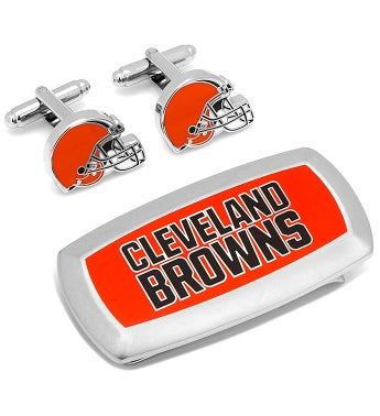 Cleveland Browns Cufflinks & Money Clip