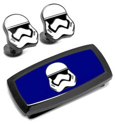 Stormtrooper Cufflinks and Cushion Money Clip