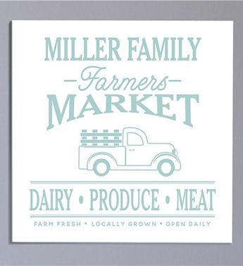 Personalized Farmers Market Truck Canvas