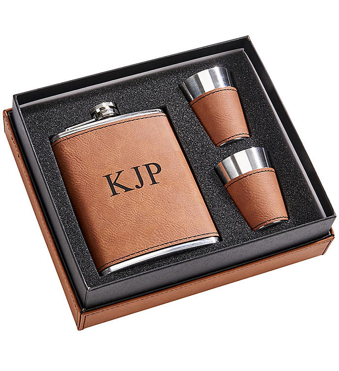Personalized Leatherette Box Gift Set