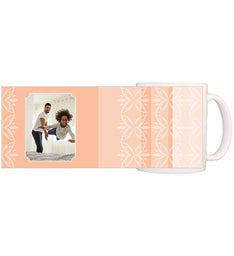 Personalized Tropical Peach Magic Mug