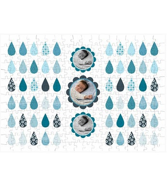 Personalized Raindrop 252 Piece Photo Puzzle
