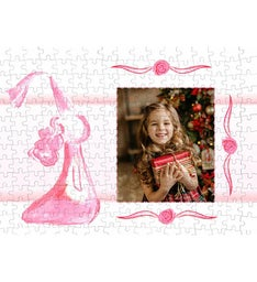 Personalized Pink Princess 252 Piece Photo Puzzle