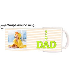 Personalized Dad Green Tie Magic Mug