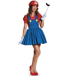 Super Mario Mario with Skirt Adult Costume