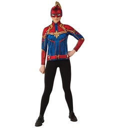 Captain Marvel Hero Suit Adult Costume Top