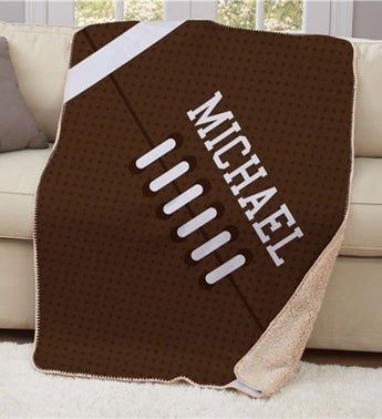 Personalized Football Sherpa Blanket