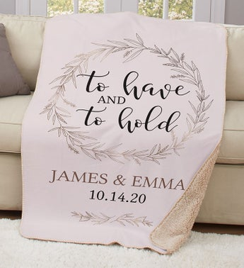 Personalized To Have And To Hold Sherpa Throw