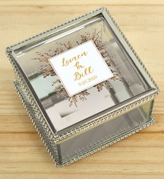 Personalized Couples Jewelry Box