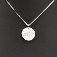 Personalized Round Disk Necklace