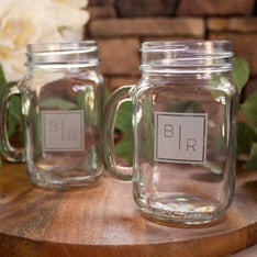 Personalized Transitional Monogram Mason Jar Mug