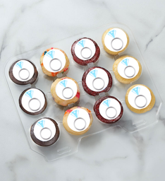 12-24 Mini Engagement Ring Cupcakes