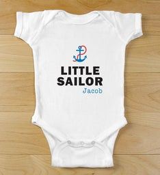 Personalized Little Sailor Infant Body Suit