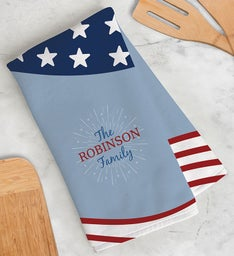 Personalized Patriotic Dish Towel