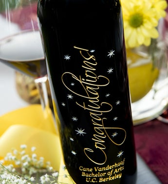 Graceful Congratulations Personalized Wine Bottle