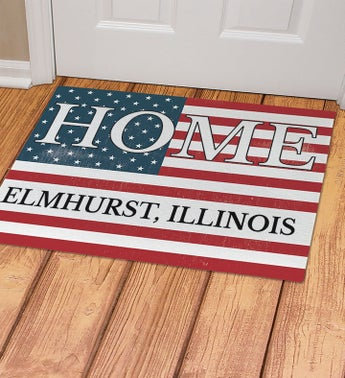 Personalized Patriotic Home Doormat