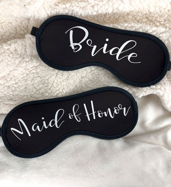 Personalized Bridal Party Title Sleep Mask