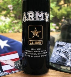 The Army Personalized Wine Bottle