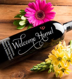 Welcome Home Personalized Wine Bottle