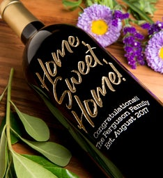 Moonstruck Sweet Home Personalized Wine Bottle