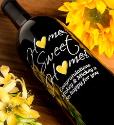 Home Sweet Home Personalized Wine Bottle