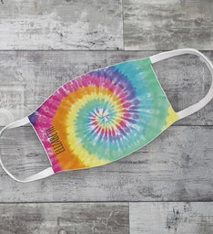 Personalized Tie Dye Kid Mask