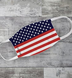 Personalized American Flag Adult Face Mask