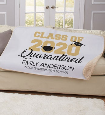 Personalized Class of 2020 Quarantined Blanket