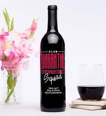 Personalized Club Quarantine Wine Bottle