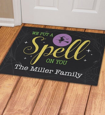 Personalized Put A Spell On You Doormat