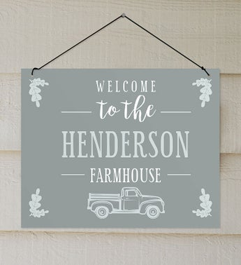 Custom Welcome To The Farmhouse Truck Wall Sign